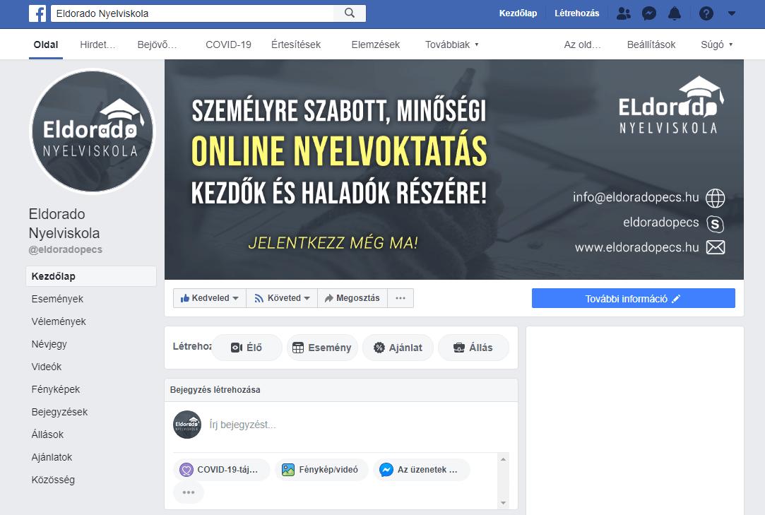 Facebook oldal Redesign.