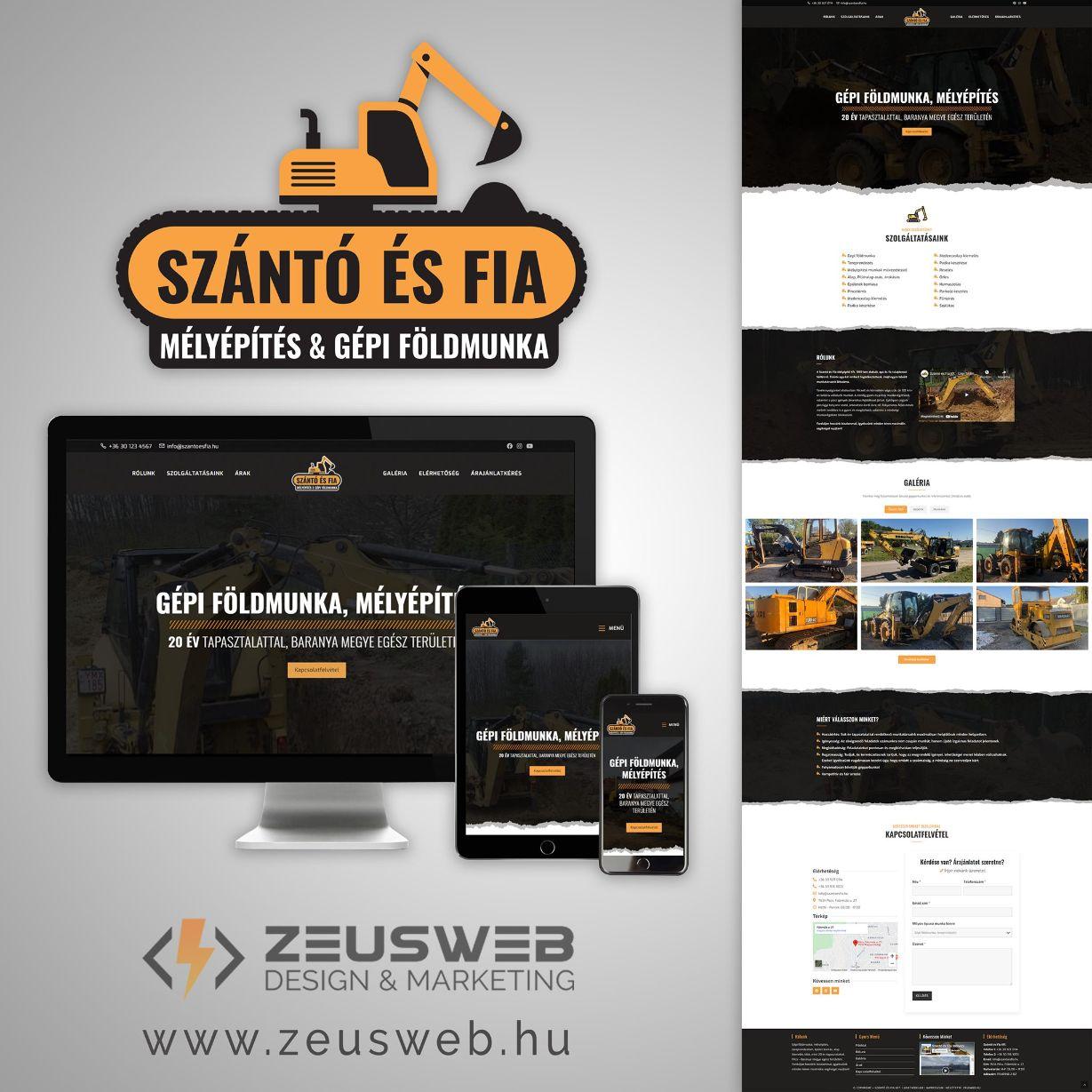 Szanto-es-fia-weboldal-keszites-logo-tervezes-gepi-foldmunka-epitkezes-melyepites-pecs-zeusweb-latvany